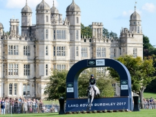 Oliver Townend (GBR) riding Ballaghmor Class on his way to first place after the cross country phase.  The Land Rover Burghley Horse Trials. Burghley House, Stamford, Lincolnshire, Britain United Kingdom on 2nd September 2017.