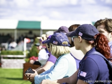 Team USA Supporters: USA-Hannah Sue Burnett rides Under Suspection during the First Day of Dressage.  2017 GBR-Land Rover Burghley Horse Trials. Thursday 31 August. Copyright: Libby Law Photography