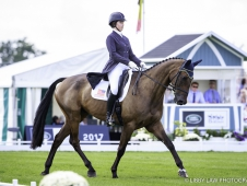 USA-Lilian Heard rides LCC Barnaby during the Second Day of Dressage.  2017 GBR-Land Rover Burghley Horse Trials. Friday 1 September. Copyright: Libby Law Photography