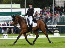 Mark Todd (NZL) riding Leonidas II, during the dressage phase of the The Land Rover Burghley Horse Trials, near Stamford in Lincolnshire, UK between 30th August to 3rd September 2017