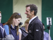 NZL-Sir Mark Todd speaks with the Press after his test on Leonidas II during the Second Day of Dressage. Interim-1st. 2017 GBR-Land Rover Burghley Horse Trials. Friday 1 September. Copyright: Libby Law Photography