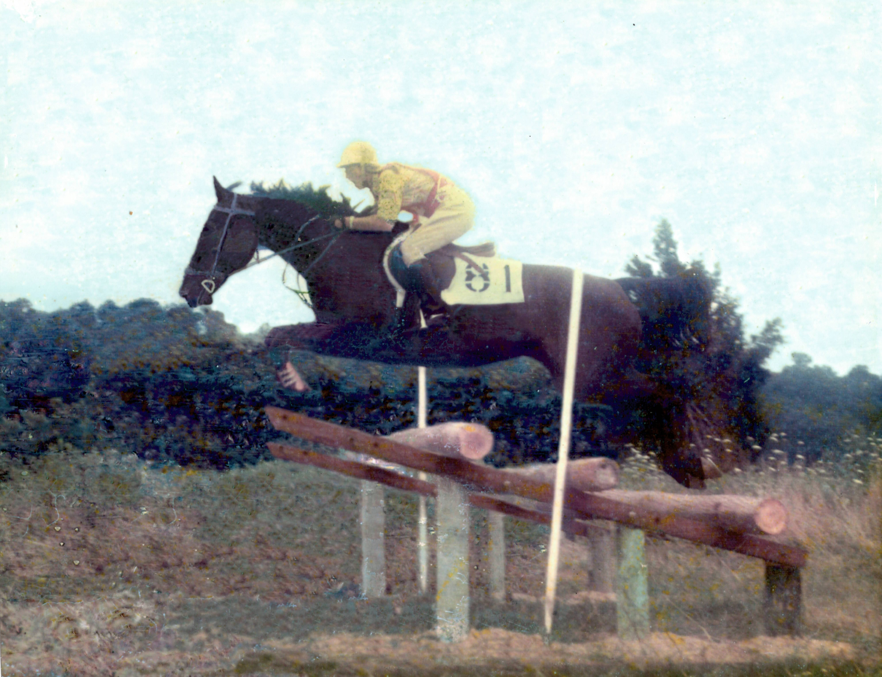 Jean Kiefer-Wood at a Pony Club rally at Foxcroft School (Va.) in 1972 aboard her Appaloosa/Thoroughbred Asterix. Photo courtesy of Jean Kiefer-Wood.