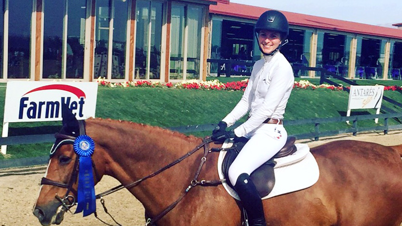Zazou Hoffman has turned years of hard work into a blossoming career as a grand prix rider.