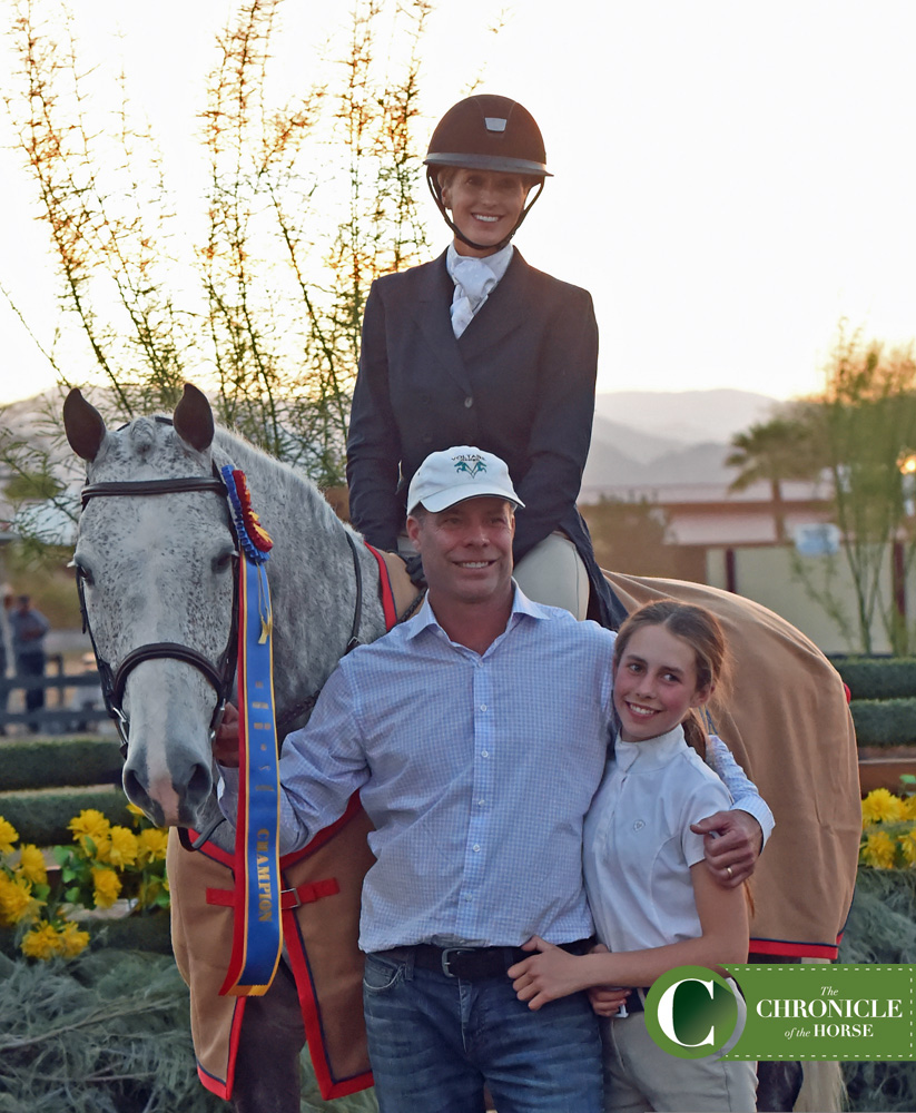 Hope Glynn celebrates her win with her husband Ned and her daughter Avery. Photo by Kimberly Loushin.