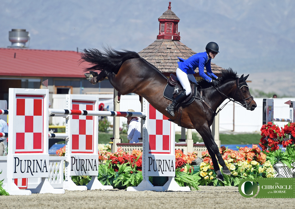 Canada's Tamie Phillips jumped double clear to take second with Cristar. Photo by Kimberly Loushin.