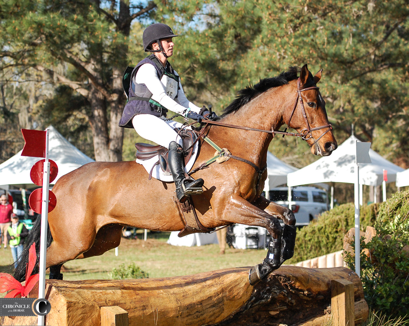 Jenny Caras and Fernhill Full Throttle are in second in the CIC**. Photo by Lindsay Berreth.