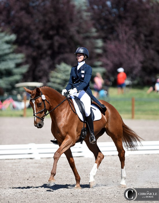 Harper Click and Rubia are sitting third individually after dressage in the CCI* at the Adequan FEI North American Youth Championships, and the pair is on the third-placed Area IV & VII team.