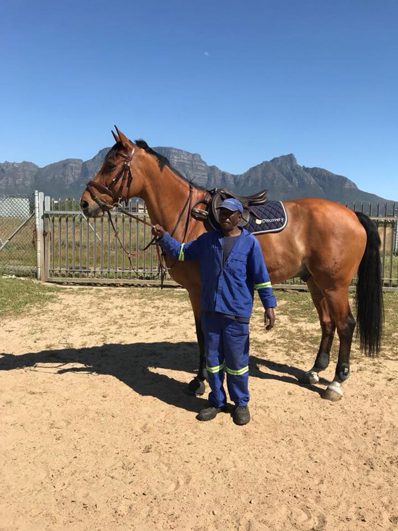 Campbell and Joe, his bestfriend:groom in South Africa. Photo supplied by Lisa Williams