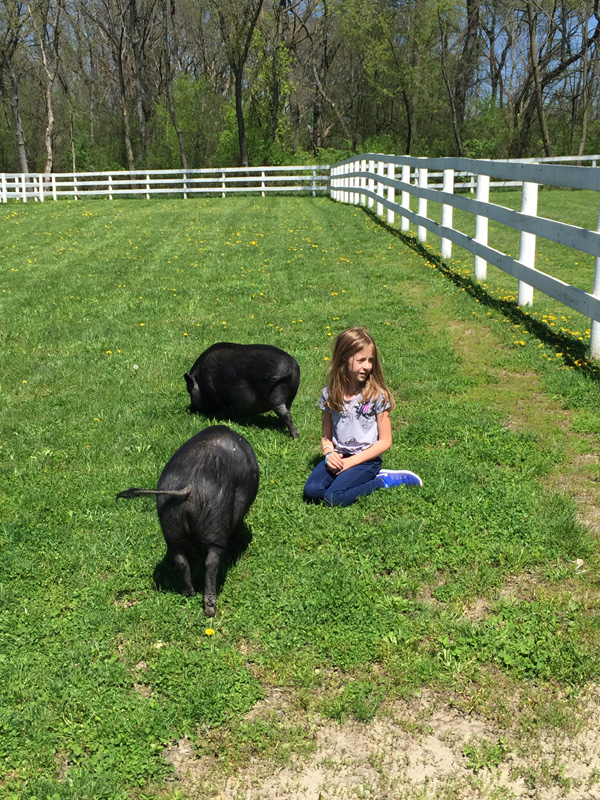 Alexa with Wilbur and Charlotte