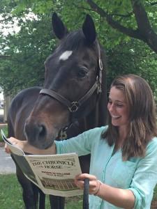 Horse reading magazine