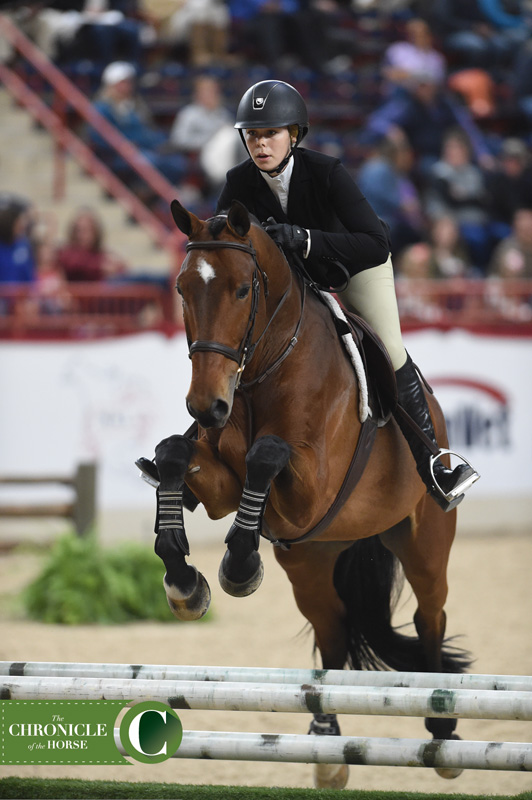 After three phases, Emma Fletcher came out the victory of the Dover Saddlery/U.S. Hunter Seat Medal Finals. Laura Lemon Photos.