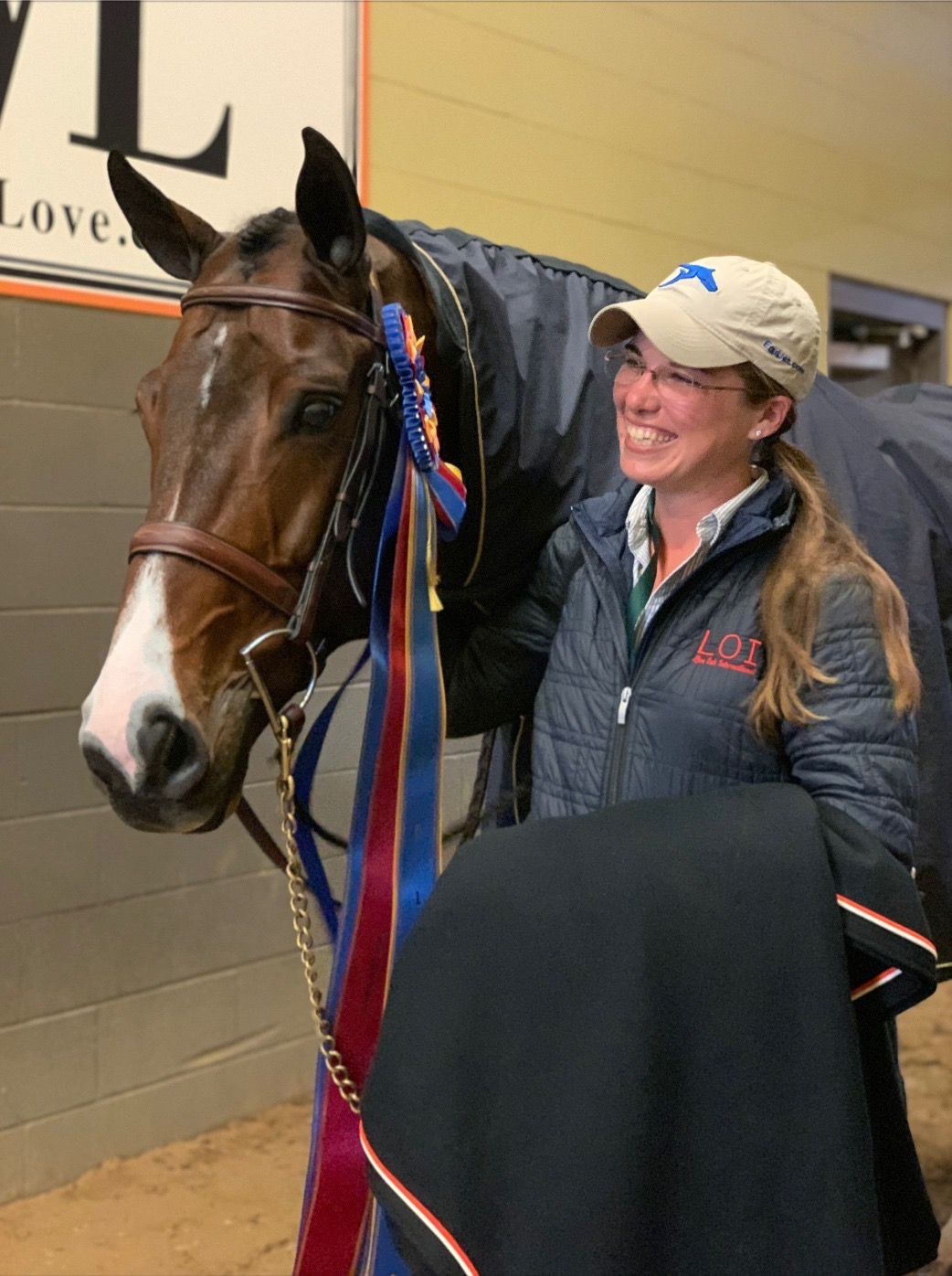 "Lafitte and I after he won Green 3'9"" Champion at the National Horse Show. Photo credit: Samantha Kramig"