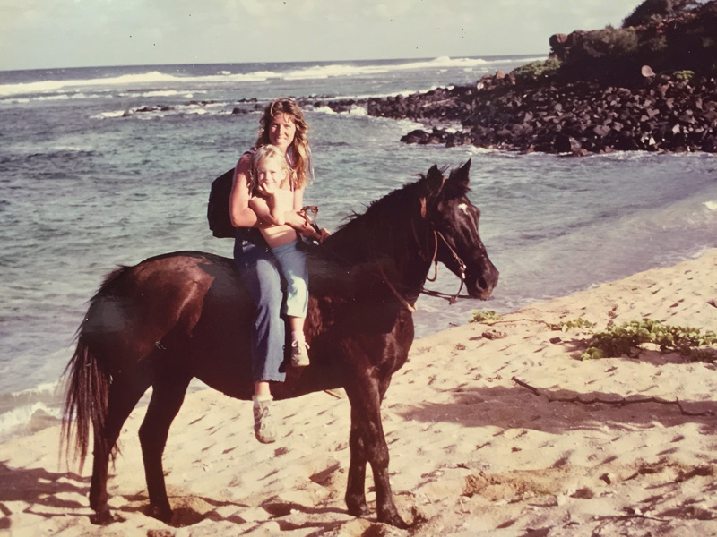 Lehua Custer+mom