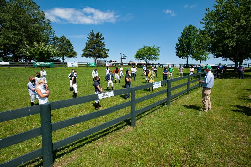 1Doug Fout leads socially distanced jockeys meeting 4