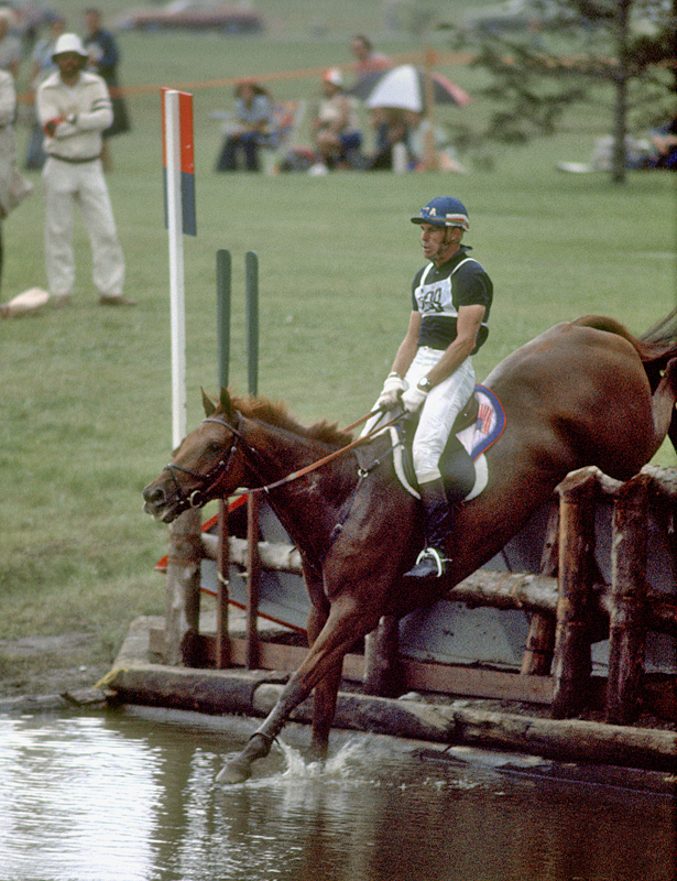 Mike Plum riding Better and Better in 1976 Olympic Games