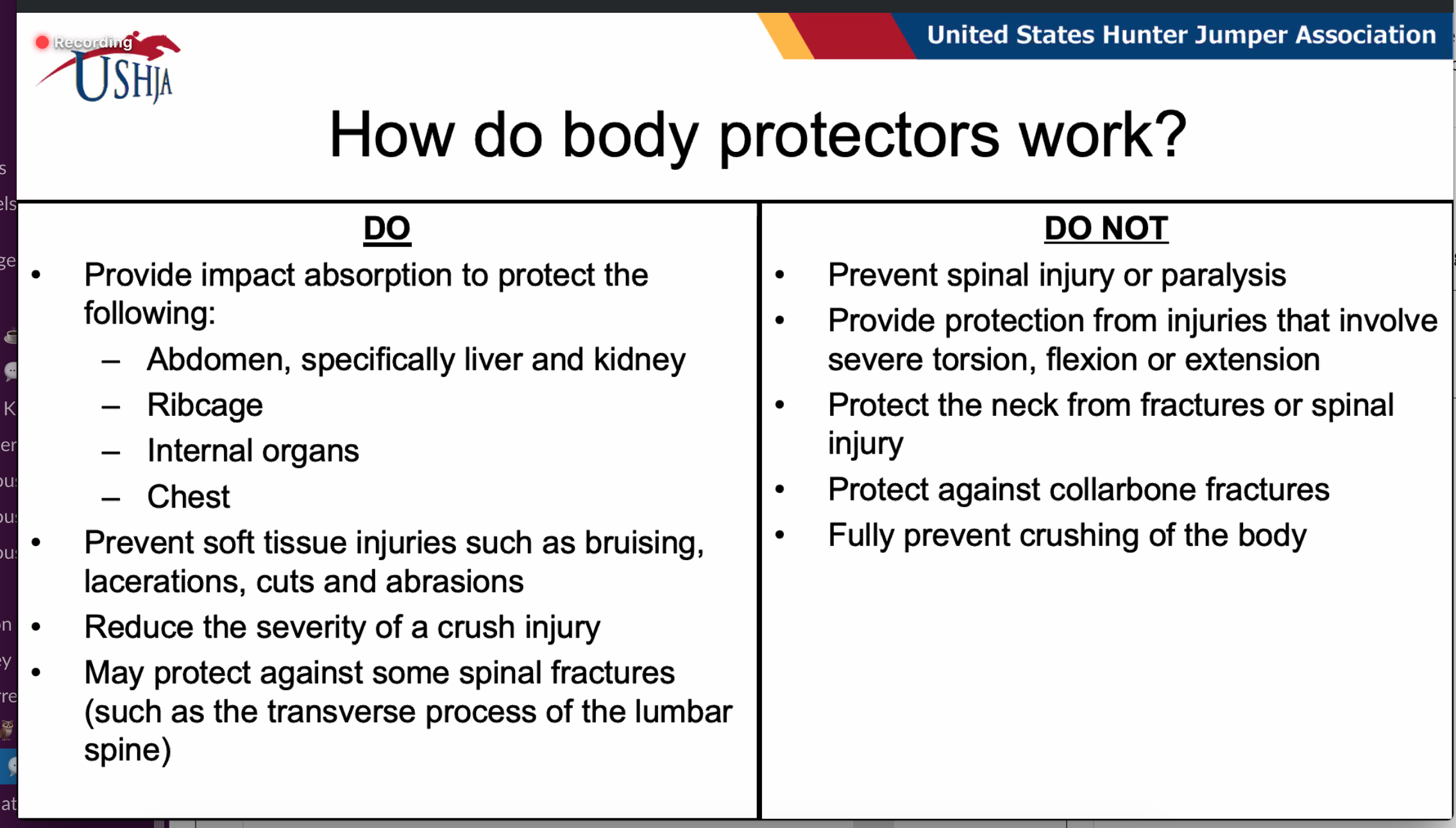 How do body protectors work?