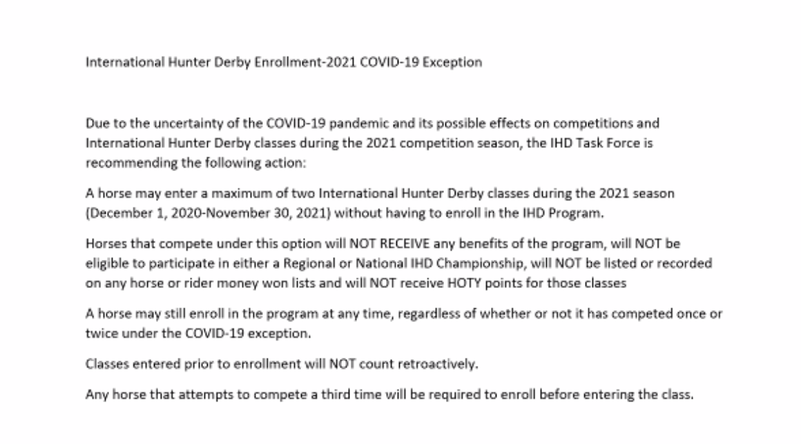 Covid exemption