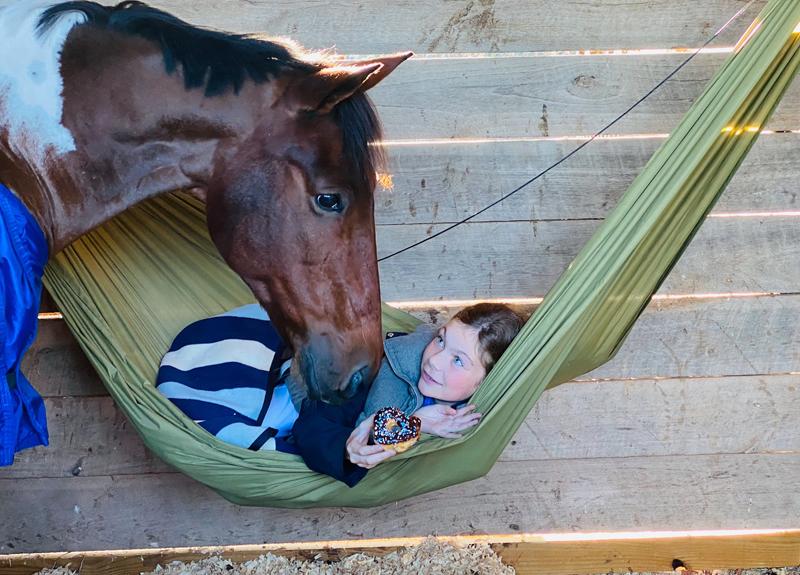 Riley Jones has grown up with Señor Santana. Photo Courtesy Of Krista Jones