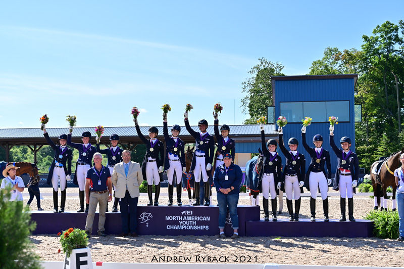 1Young Rider Podium, Photo by Andrew Ryback Photography