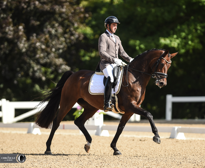 David Blake and Delilah earned the reserve championship in the 6-year-old championship.