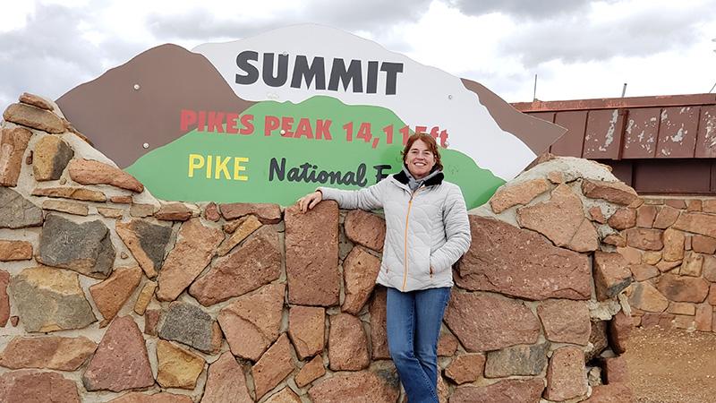 Ange at Pike peak